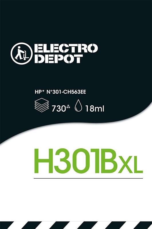 Cartouche INKEES H301XL Noir compatible HP