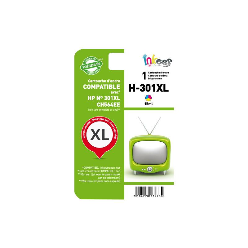 Cartouche INKEES H301XL Couleurs compatible HP