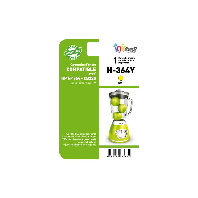 Cartouche INKEES H364 jaune compatible HP