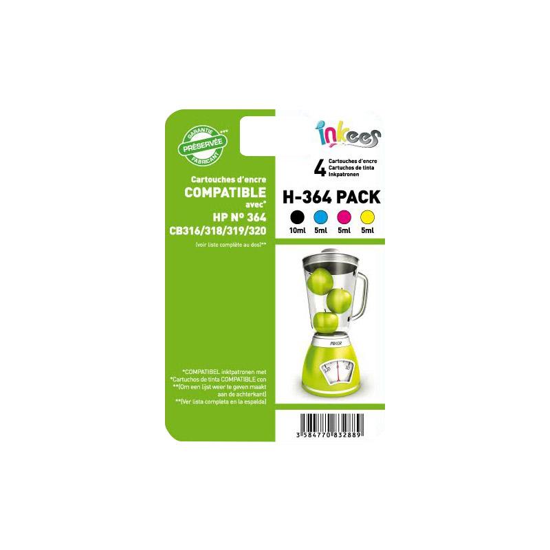 Multipack INKEES compatible HP 364 Noir/couleurs (photo)