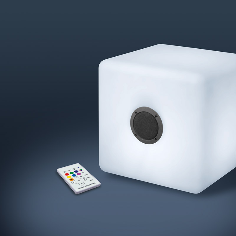 Cube lumineux enceinte EDENWOOD 40 x 40 cm