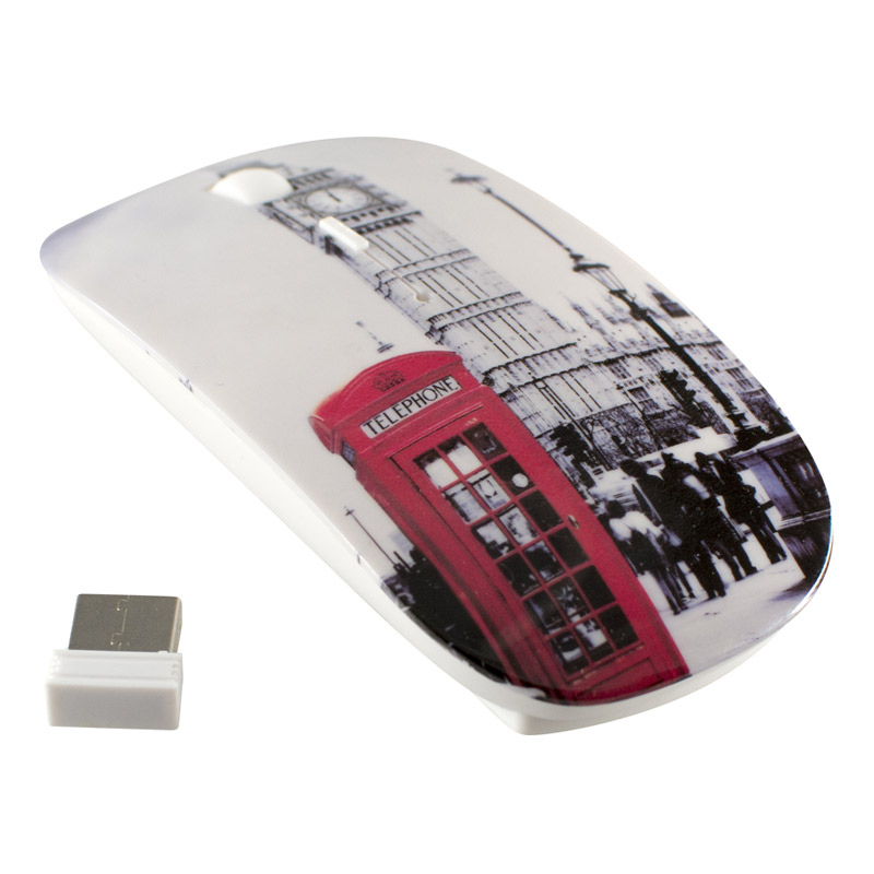 Souris H'MC ss fil design London Call (photo)