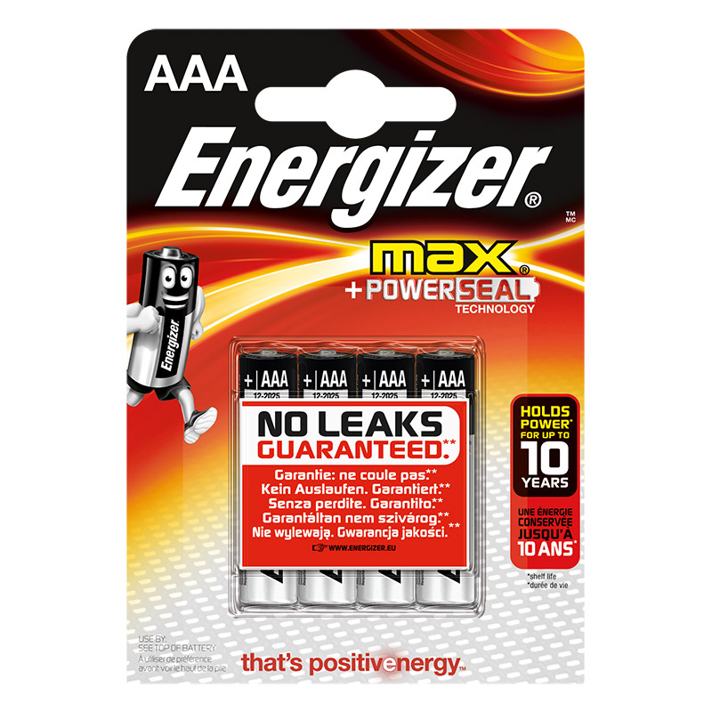 Piles ENERGIZER MAX AAA LR03 x 4