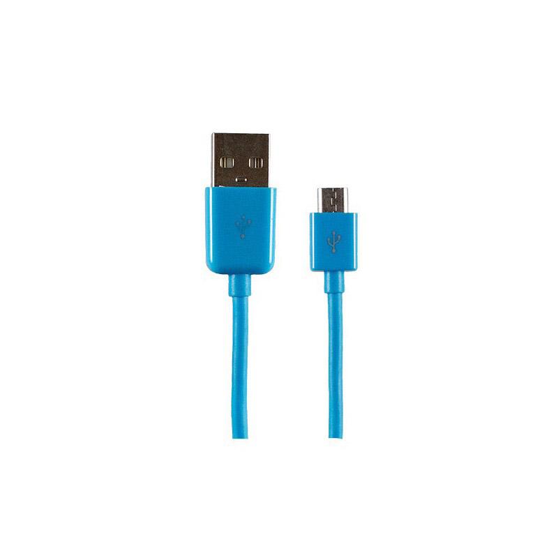 CÂBLE SYNCHRO/CHARGE APM 1,5M micro USB Bleu
