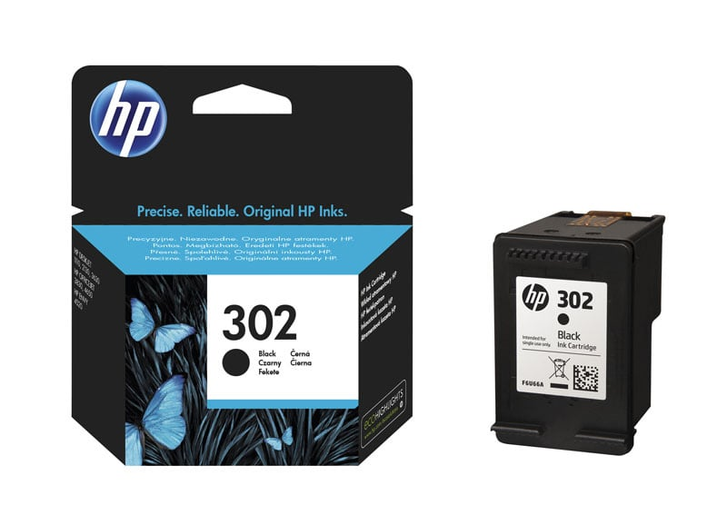 HP 302 Cartouche d'encre Noir authentique (F6U66AE) (photo)