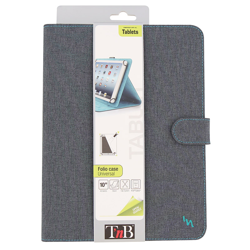 Folio Case T'nB 10 Gris/Bleu
