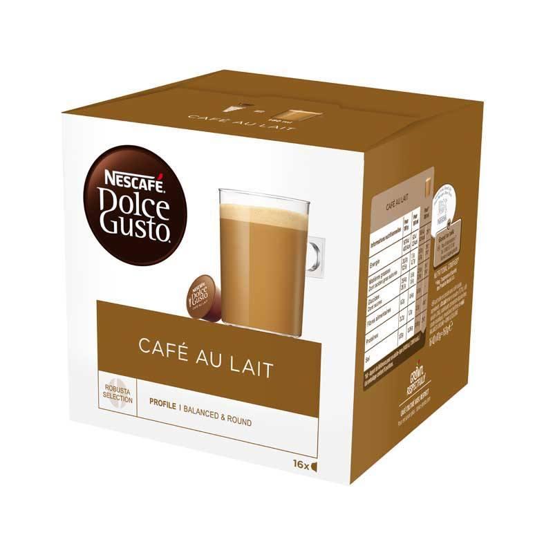 Dosettes cafe DOLCE GUSTO CAFE AU LAIT