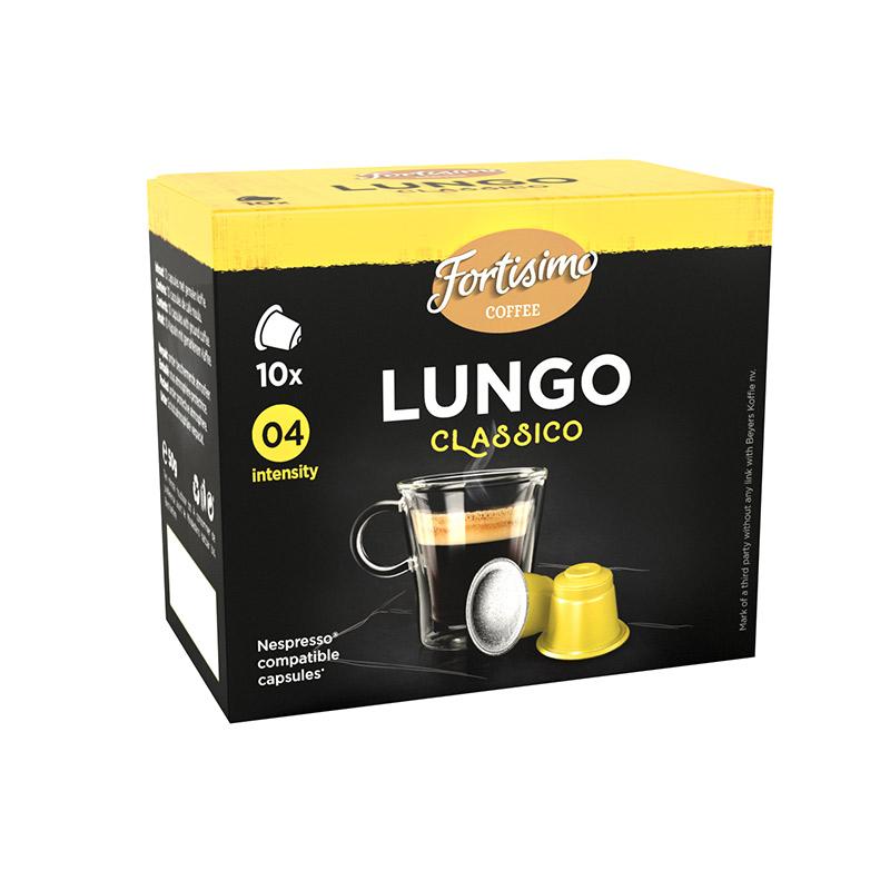 Capsules Lungo classico FORTISSIMO COFFEE (photo)