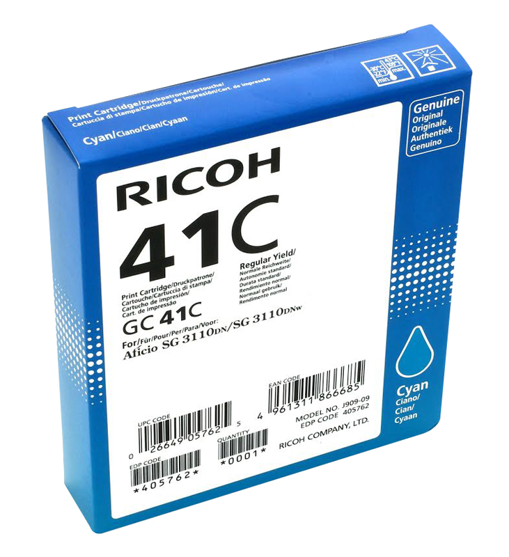 Toner RICOH GC-41 Cyan 2200 pages