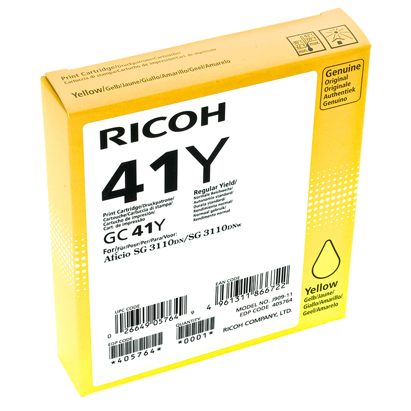 Toner RICOH GC-41 Jaune 2200 pages