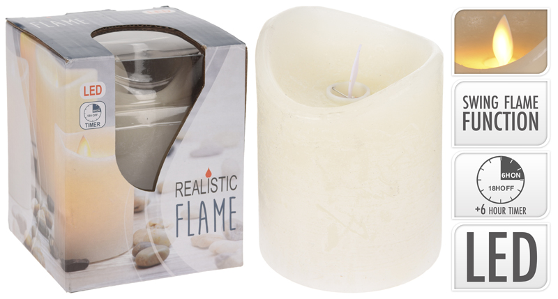 BOUGIE . Ivoire LED - flamme animee