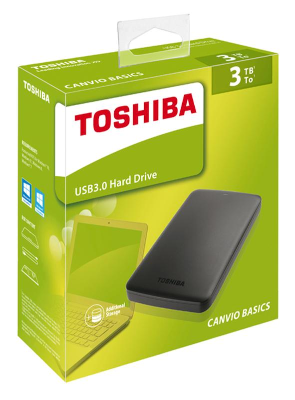 Disque Dur 2.5'' Toshiba Canvio Basics 3to