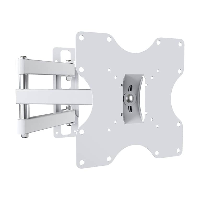 Support TV N°3 ELECTRO DEPOT de 48 à 82 cm bras deporte Blanc (photo)