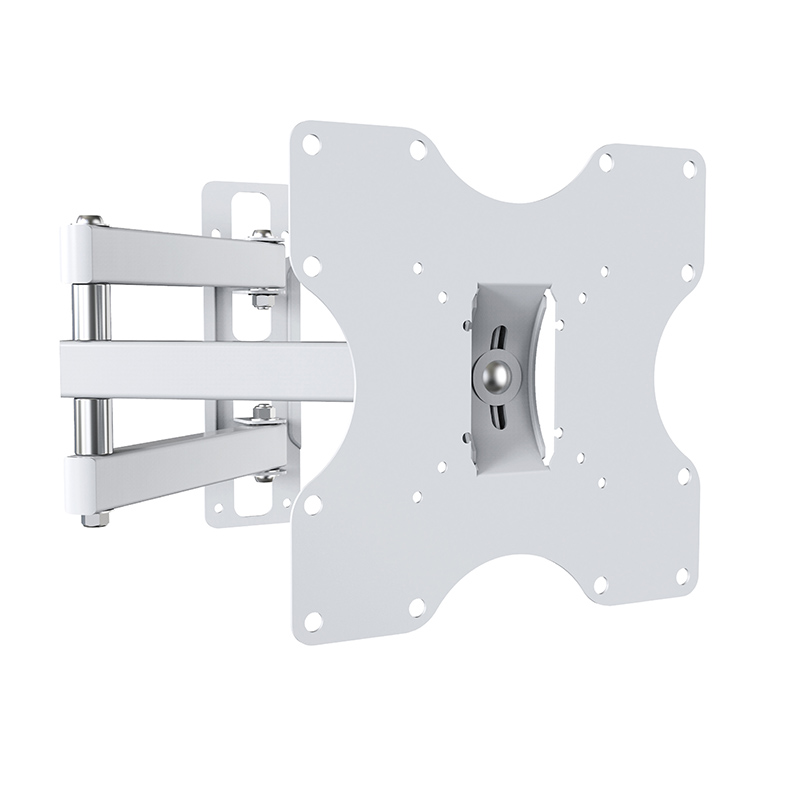 Support TV de 48 à 82 cm bras deporte Blanc N°3 (photo)