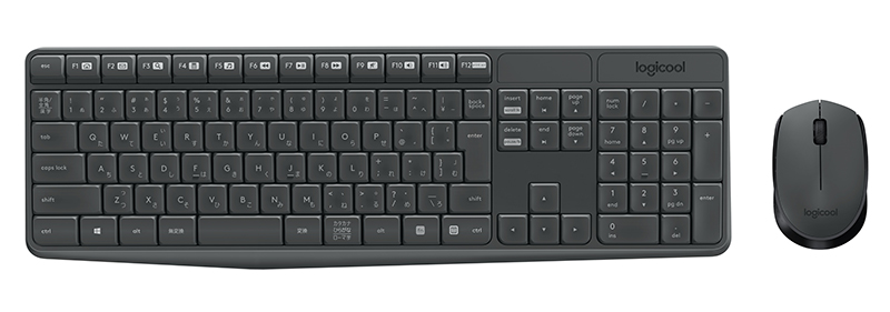 Pack clavier + souris sans fil LOGITECH MK 235 gris (photo)