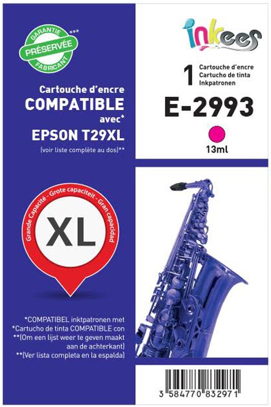 CARTOUCHE INKEES E2993 XL 10ml magenta