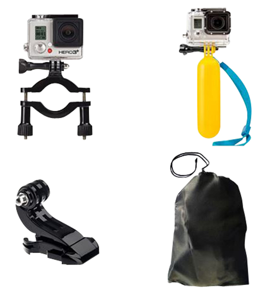 Pack 7 accessoires IBROZ pour camera sport compatible GoPro