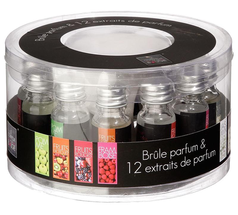 Diffuseur brûle parfum + 12 flacons (photo)