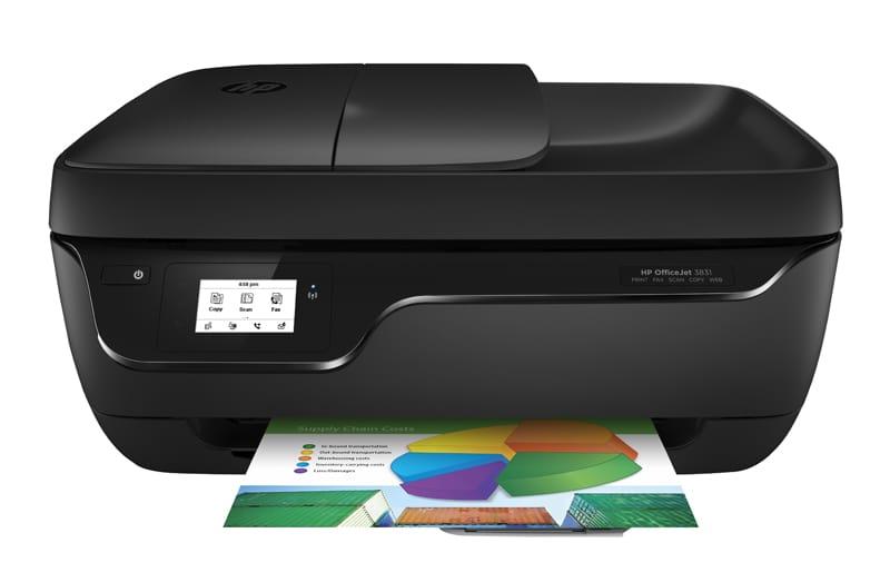Imprimante multifonction HP Office Jet 3831 noir (photo)