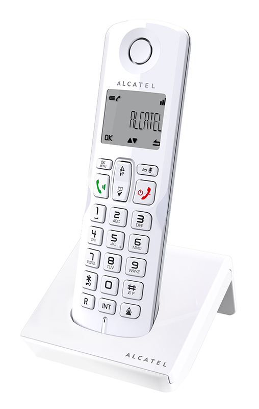 Telephone ALCATEL Solo S250 Blanc mains libres