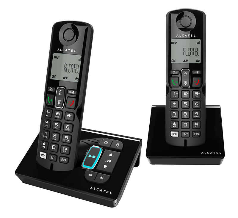 Telephone repondeur ALCATEL S250 Duo Noir mains libres (photo)