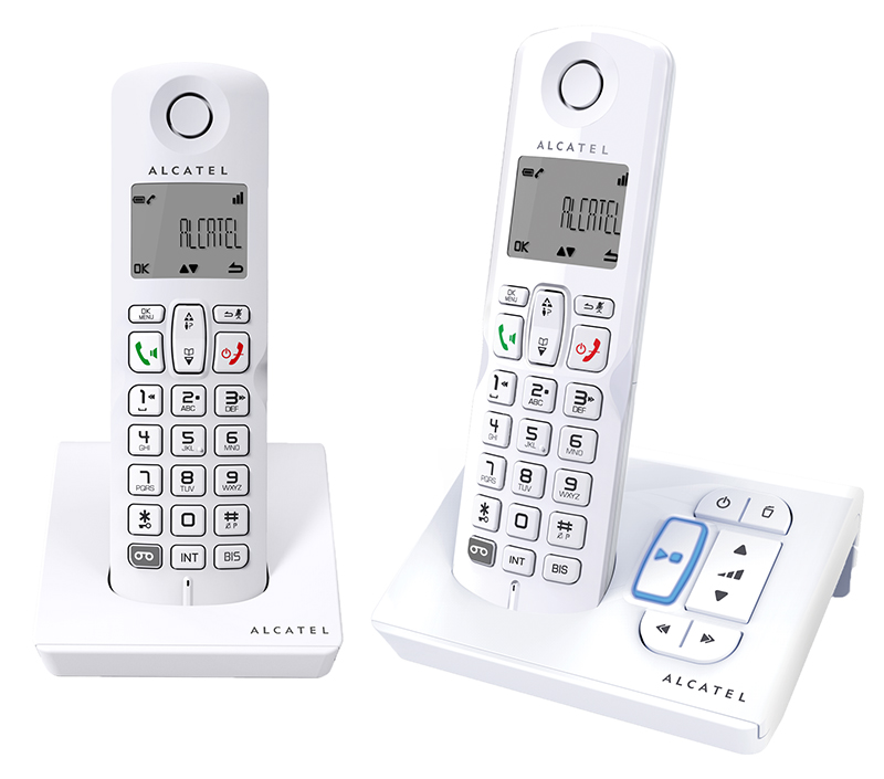 Telephone repondeur ALCATEL S250 Duo Blanc mains libres (photo)