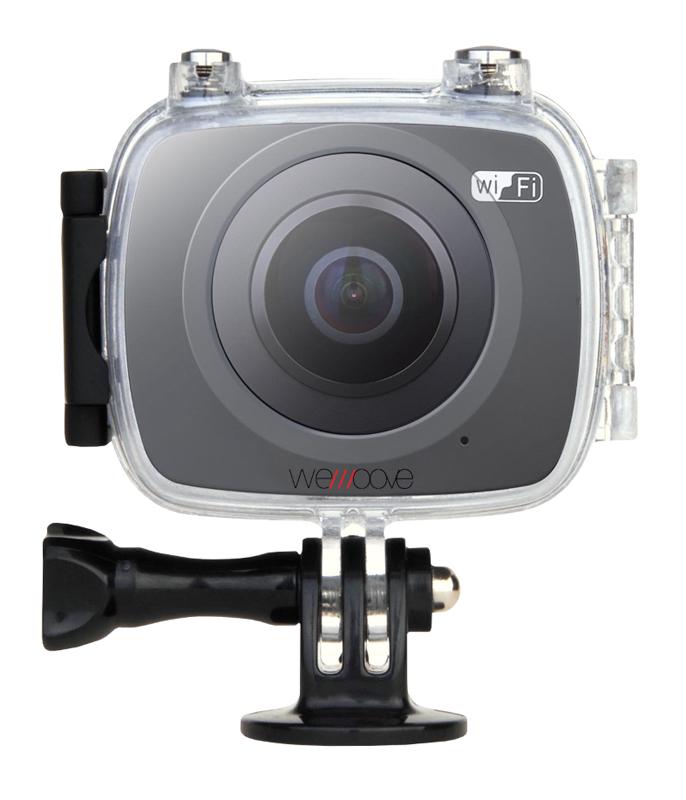 Caméra Sport 360 Degrés Wemoove Noir