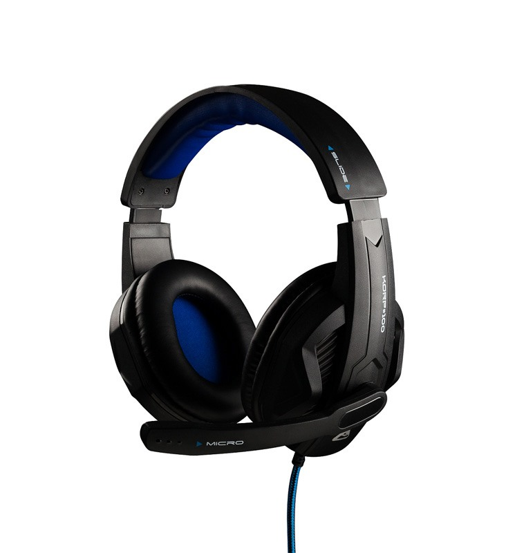Casque gaming THE G-LAB KORP100 noir et bleu (photo)
