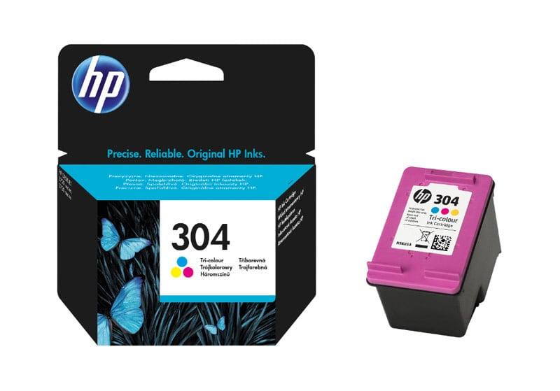 HP 304 Cartouche Trois couleurs (Cyan, Magenta, Jaune) authentique (N9K05AE) (photo)