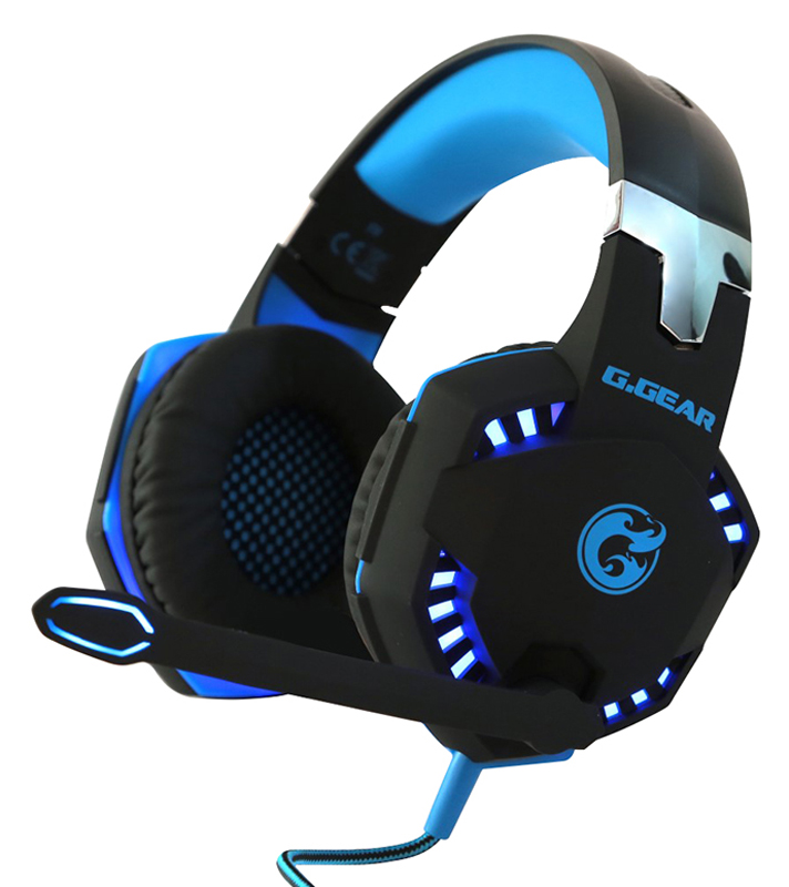 Casque micro gaming G.GEAR GHS04 LED noir/bleu
