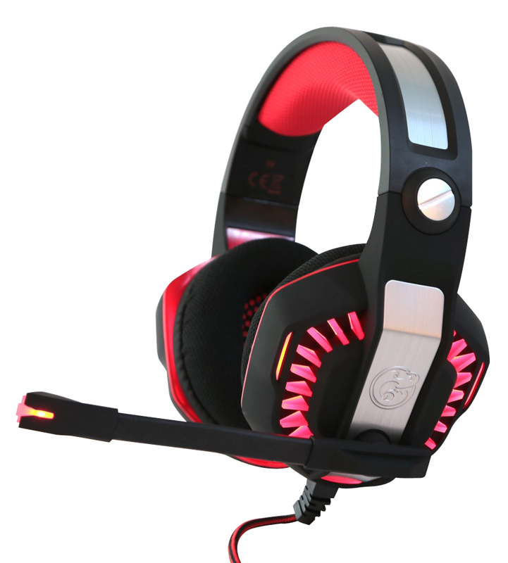 Casque micro gaming vibrant 7.1 G.GEAR GHS71VIB noir et rouge