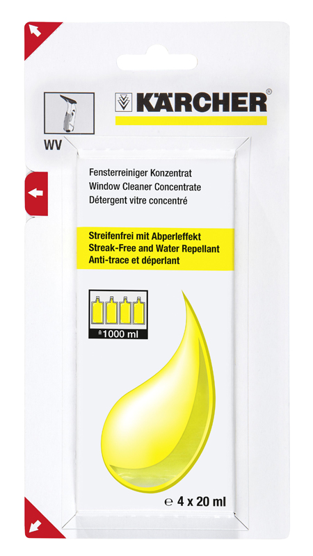Pack KARCHER Detergent vitre concentre 4 x 20ml