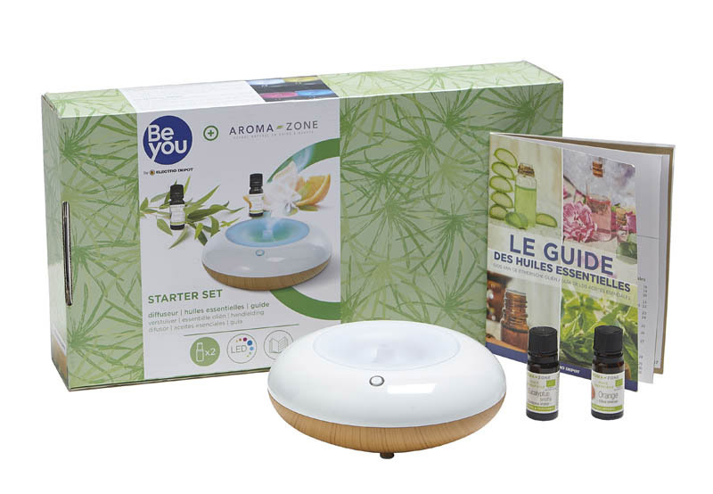 Coffret diffuseur d'huiles essentielles BE you + Aromazone BY-MFCHL01 (photo)