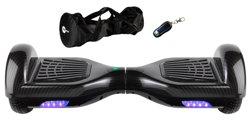 Hoverboard mp man 6 5 39 39 carbone housse telecommande for Housse hoverboard