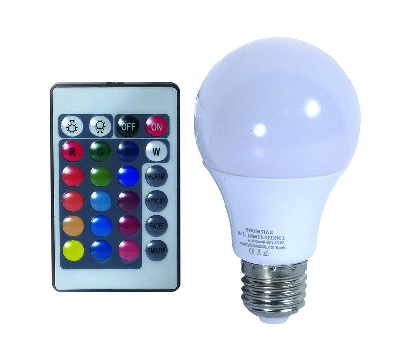 Ampoule BOOMSTAR Couleurs + Telecommande