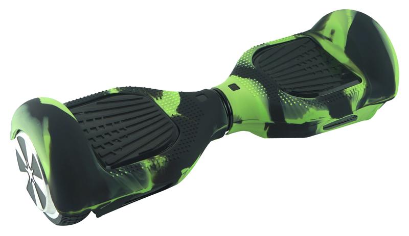 Protection Silicone Pour Hoverboard Urbango 6,5'' Noir Et Vert