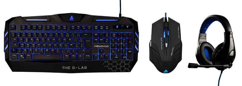 Pack Gaming The G-lab Clavier + Souris + Casque Combo200