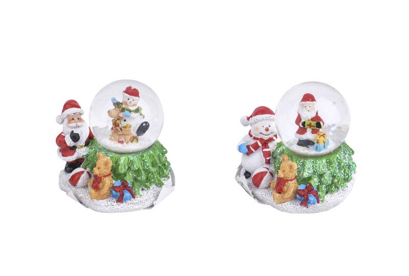 Boule BE HAPPY A neige LED - Père Noël