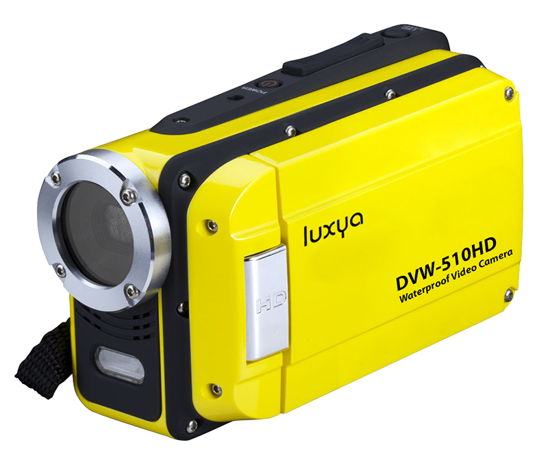 Camescope waterproof/dustproof LUXYA DVW-512FHD 1080 IPX8 jaune