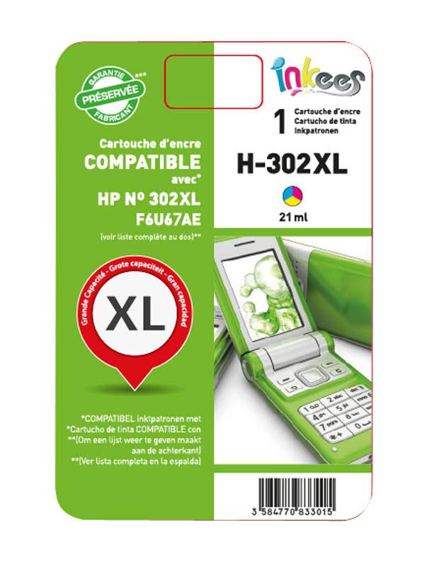 Cartouche Compatible inkees h302 3couleurs