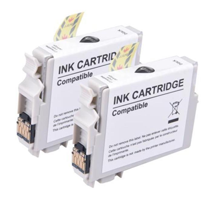 Pack cartouches INKEES E2991 XL noire x2 (photo)
