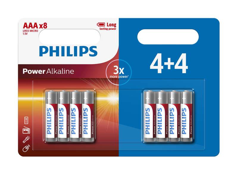 Pile PHILIPS LR03 par 8
