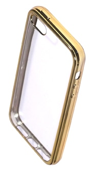 Coque TPU slim iPhone 5/5S/SE transparente or (photo)