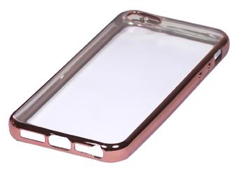 Coque TPU slim iPhone 5/5S/SE transparente rose