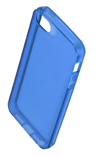 Coque TPU slim iPhone 5/5S/SE uni bleu (photo)