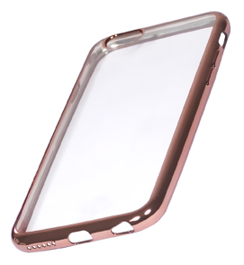 Coque TPU slim iPhone 6/6S transparente rose