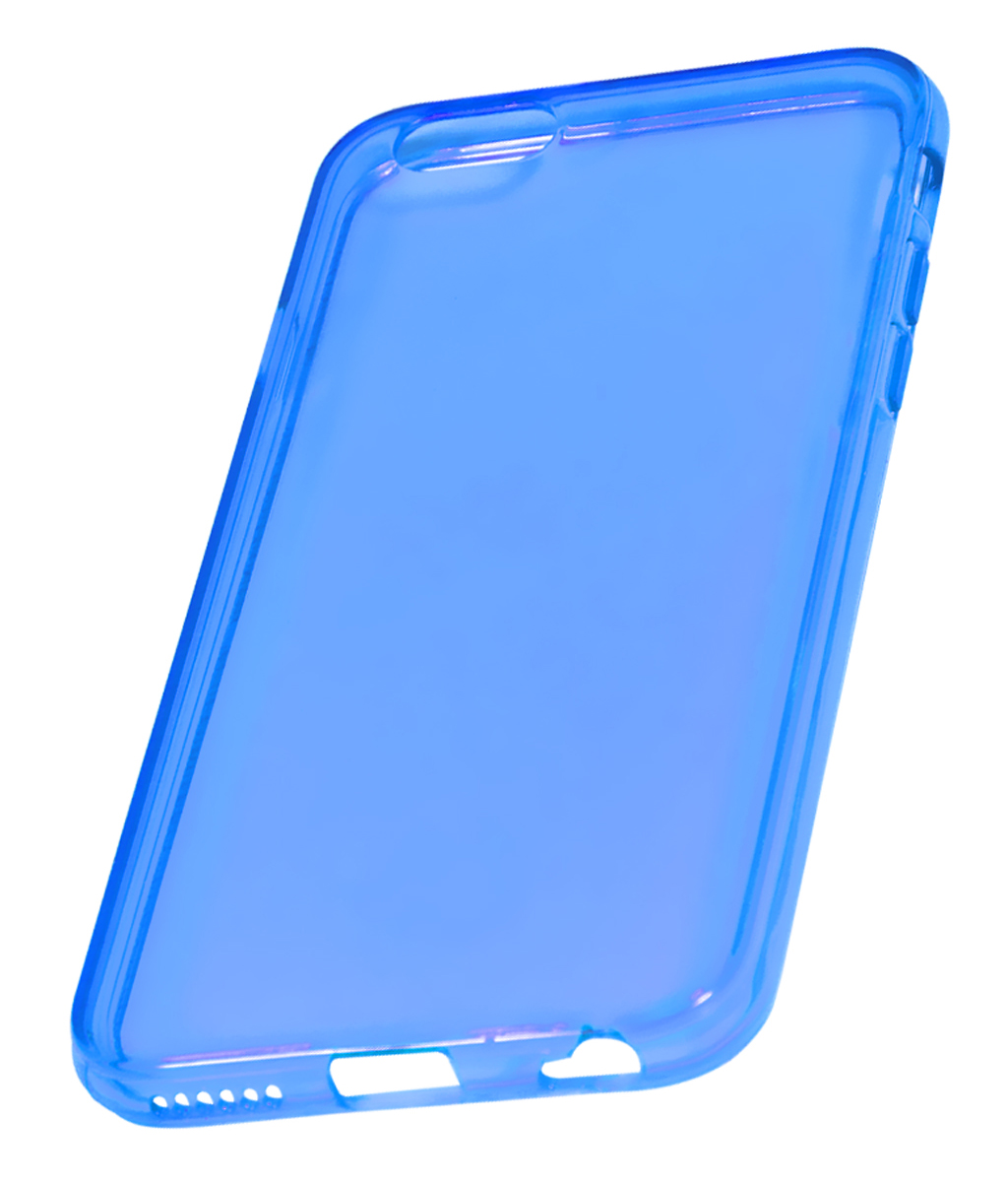 Coque TPU slim iPhone 6/6S uni bleu (photo)