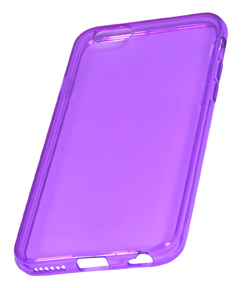 Coque TPU slim iPhone 6/6S transparente uni violet (photo)