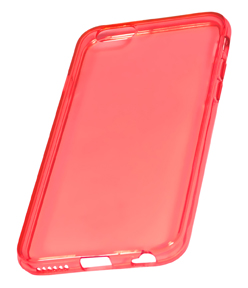 Coque TPU slim iP6/6S transparente uni orange (photo)