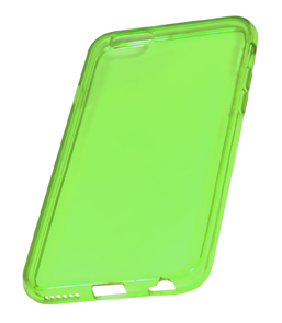 Coque TPU slim iPhone 6/6S transparente uni vert (photo)